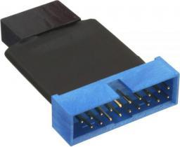 Adapter USB InLine 2 x USB 3.0 - 19-pin Czarno-niebieski (33449K)