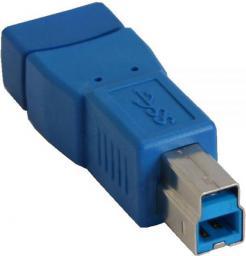 Adapter USB InLine USB A - USB B Niebieski (35300D)