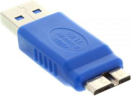 Adapter USB InLine USB A - micro USB B Niebieski (35300O)