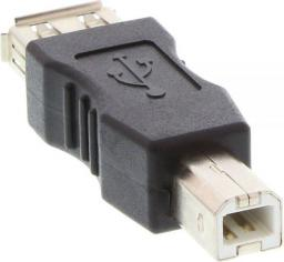 Adapter USB InLine USB A - USB B Czarny (33442)