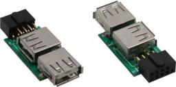 Adapter USB InLine USB A - 9 pin Czarny (33440I)