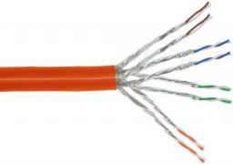 InLine Kabel instalacyjny S/FTP,  PiMF,  Cat.7a,  AWG23,  1200MHz,  halogen free,  pomarańczowy,   300m (77300I)