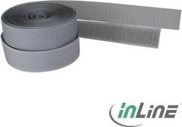 Organizer InLine Rzep na kable z mocowaniem Velcro, szary, 3m x 25mm (59935A)