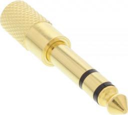 Adapter AV InLine Audio 6.3mm męski - 3.5mm żeński Stereo pozłacany metal (99305P)