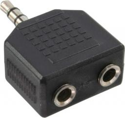 Adapter AV InLine Audio 3.5mm męski - 2x 3.5mm Stereo żeński (99301)