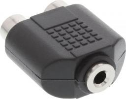 Adapter AV InLine Audio 3.5mm jack żeński mono, 2x Cinch żeński (99338)