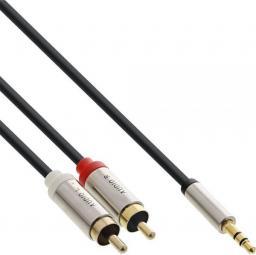 Kabel InLine Jack 3.5mm - RCA (Cinch) x2 10m srebrny (99240)