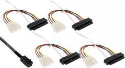 InLine Kabel Mini SAS HD SFF-8643 - 4x SFF-8482 + Power 0.5m (27632A)