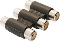 Adapter AV InLine 3x Cinch (F/F) Czarny (99319A)