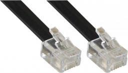 InLine Modularny kabel RJ11, 4 żyły, 6P4C, czarny, 15m (18844M)