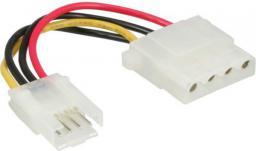 """InLine Kabel zasilający wewnętrzny 3.5"""" Floppy żeński - Molex 4 Pin męski 6cm - 26622A"""