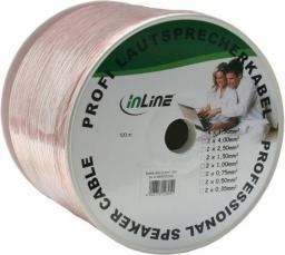 Przewód InLine Głośnikowy, 100, Przezroczysty (98400T)