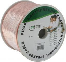 Przewód InLine Głośnikowy, 50, Przezroczysty (98350C)