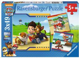 Ravensburger Puzzle 3w1, Psi Patrol - Najlepsi Przyjaciele (RAP 093694)