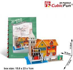 Dante Puzzle 3D Domki świata Włochy Wharf E - 306-23114