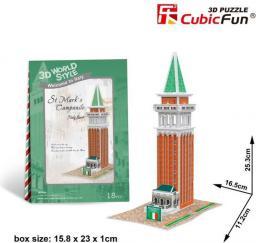"""Dante Puzzle 3D Domki świata-Francja. St. Mark""""s Campanile - (306-23116)"""
