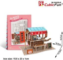 Dante Puzzle 3D Domki świata-Japonia. Ramen cart - (306-23103)