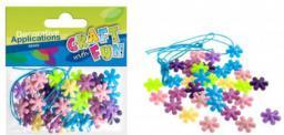 Craft with Fun Ozdoba dekoracyjna koraliki plastikowe kwiatek 38szt (327049)