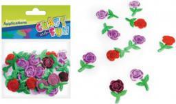 Craft with Fun Ozdoba dekoracyjna materiał Róże 30szt (339065)
