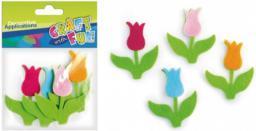 Euro Trade Ozdoba dekoracyjna filc tulipan (339099)
