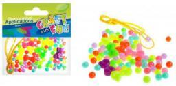 Craft with Fun Ozdoba dekoracyjna koraliki plastikowe 95szt (327048)