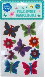 Stnux Filcowe naklejki motyle - 113-0134