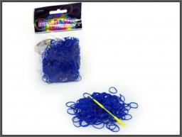 Hipo Gumki ciemnoniebieskie do robienia bransoletek, 250 sztuk (620073)