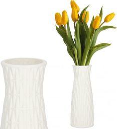 Springos Wazon 21cm nietłukący na kwiaty do kuchni, salonu biały styl skandynawski UNIWERSALNY