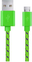 Kabel USB Esperanza Micro USB -> USB A 1m Zielono-fioletowy (EB175GP)