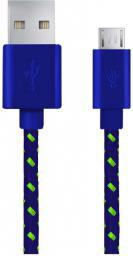 Kabel USB Esperanza Micro USB -> USB A 1m Niebiesko-zielony (EB175UG)