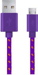 Kabel USB Esperanza Micro USB -> USB A 1m Fioletowo-pomarańczowy (EB175VY)
