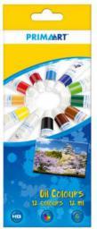 Starpak Farby olejne 12 kolorów 12ml w tubie - 322825