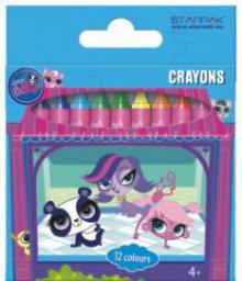 Starpak Kredki woskowe 12 kolorów Littlest Pet Shop - 274538
