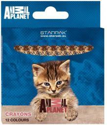 Starpak Kredki woskowe 12 kolorów Animal Planet - 260392