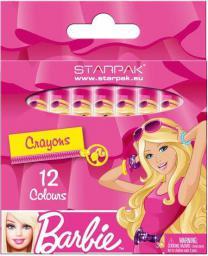 Starpak Kredki świecowe 12 kolorów Barbie - 274531
