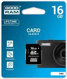 Karta pamięci GoodRam SDHC 16GB Class 4 (S400-0160R11)