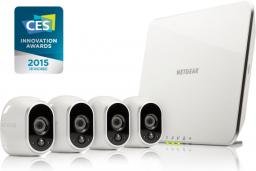 Kamera IP NETGEAR Arlo Wire-Free z 4 kamerami HD (VMS3430-100EUS)