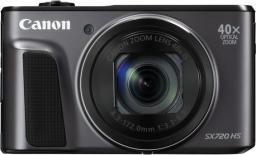 Aparat cyfrowy Canon PowerShot SX720 HS, Czarny (1070C002AA)