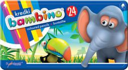 Bambino Kredki BAMBINO w pudełku metalowym, 24 kolory