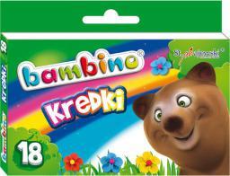 St. Majewski Kredki BAMBINO, 18 kolorów, licencja BAMBINO