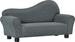 vidaXL Sofa dla dziecka, szara, obita tkaniną