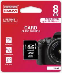 Karta pamięci GoodRam SDHC 8GB Class 10 UHS I (S1A0-0080R11)