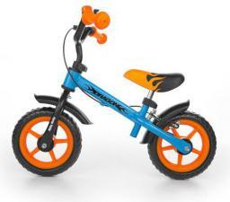 Milly Mally Rowerek biegowy Dragon z hamulcem niebiesko-pomarańczowy - 5901761121452