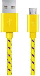 Kabel USB Esperanza MICRO USB 2.0 A-B M/M OPLOT 2.0 M - ŻÓŁTY (EB181Y - 5901299920145)