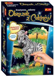 Ranok Cekinowy obrazek Zebra - 15160262