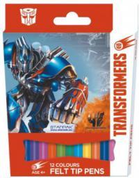 Starpak Flamastry 12kol. Transformers pudełko - 315872
