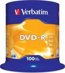 Verbatim DVD-R/100/Cake 4.7GB 16x 43549