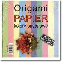 Cormoran Papier do origami, kolory pastelowe, 20x20 cm, 100 kartek