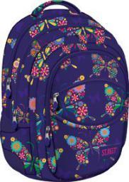 St. Majewski Plecak szkolny fioletowy w kwiaty Street Butterfly