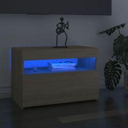vidaXL Szafka pod TV z oświetleniem LED, dąb sonoma, 60x35x40 cm